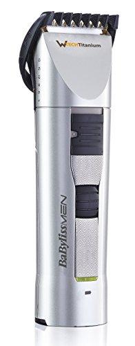 BaByliss Hair Clipper E781E - Trimmer per barba e capelli, tecnologia W-Tech Total Capture, precisione 1 mm, lama fissa in titanio