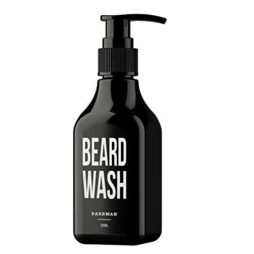 BARBMAN: Shampoo da barba (200ml) con legno di sandalo, pulizia quotidiana e profonda di viso e barba, regalo ideale per uomini barbuti