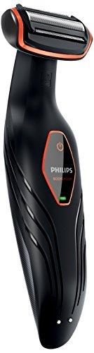 Philips BG2024 / 15 - Rasoio per il corpo senza fili, 1 pettine, 3 mm, nero e arancione