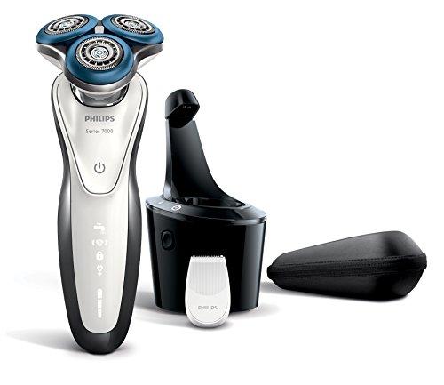 Philips 7000 series S7710 - Rasoio (batteria / alimentazione, ioni di litio, rotazione, grigio, bianco, ergonomico)