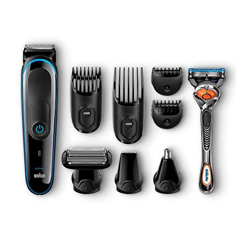 Braun MGK3080 - Set da barba multifunzione 9 in 1, epilatore maschile, regolabarba, tagliacapelli professionale da uomo, nero