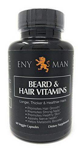 L'integratore per la crescita della barba con vitamine naturali e biotina promuove la crescita più rapida dei peli del viso per gli uomini