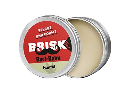 Brisk Balm Beard con cera texture e hanföl - 100% ingredienti naturali, 2 unità (2 x 40 g)