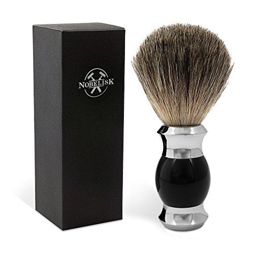 Pennello da barba BALLTA Premium Badger Hair con manico di qualità | Pennello da barba Genuine Hair (nero)