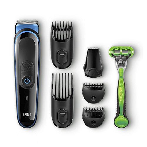 Braun MGK3040 - Set da barba multifunzione 7 in 1, epilatore maschile, regolabarba, tagliacapelli professionale da uomo, nero