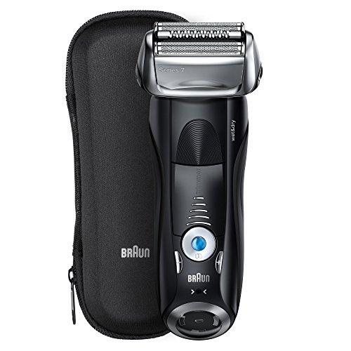 Braun Series 7 7840s Rasoio elettrico da uomo con lamina, Wet & Dry, rasoio per barba ricaricabile senza fili, nero