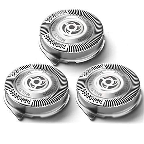 Gugutogo 3 pezzi di ricambio testine di rasatura rasoio per lame Philips serie 5000 argento