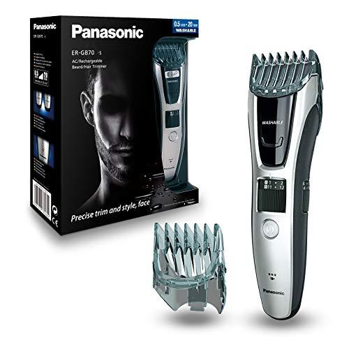 Panasonic ER-GB70-S503 - Regolabarba e regolabarba per tagli tra 0,5 mm e 20 mm