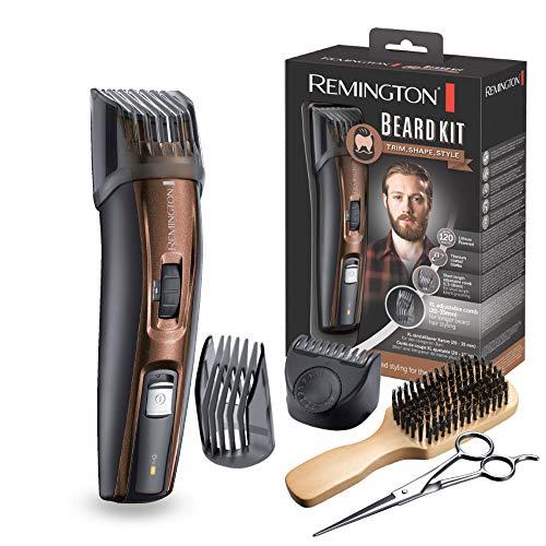 Remington MB4045 - Kit regolabarba, 5 accessori e barbiere, cordless, litio, lavabile, nero e marrone