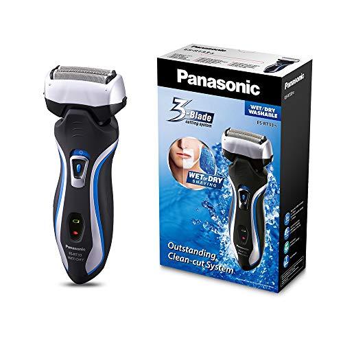 Panasonic ES-RT33-S503 - Rasoio lavabile, asciutto e bagnato, 3 lame, testina girevole, velocità 10000 rpm